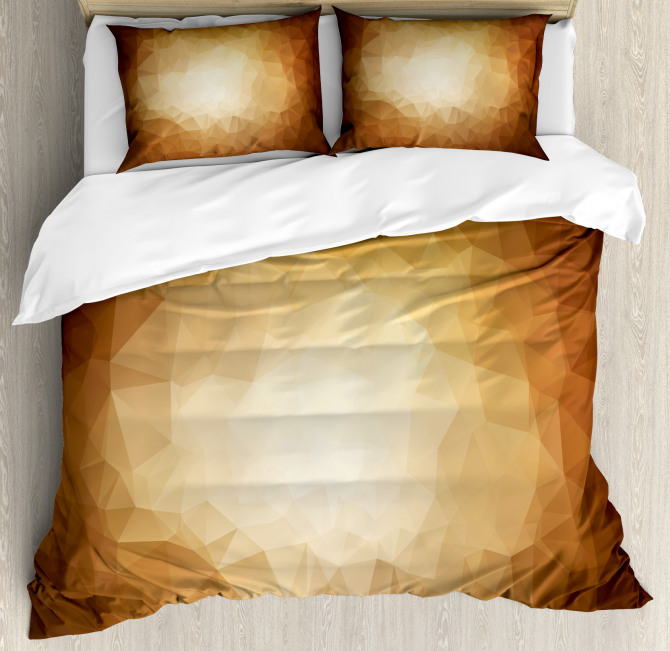Abstract Triangles Mosaic Duvet Cover Set