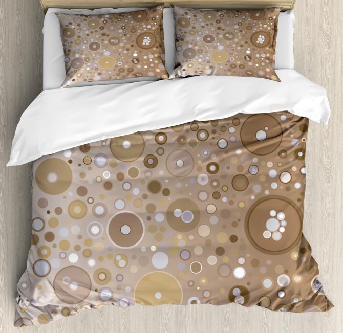 Bubble Like Circles Dots Duvet Cover Set