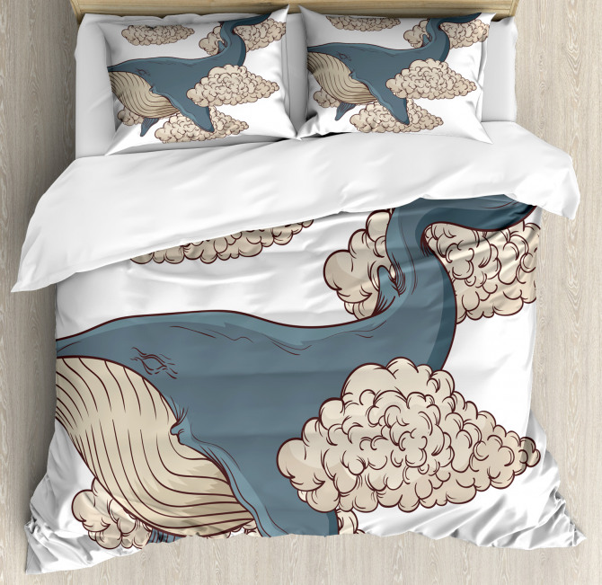 Sky Clouds Animal Fish Duvet Cover Set