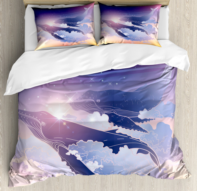 Dreamy Night with Clouds Duvet Cover Set