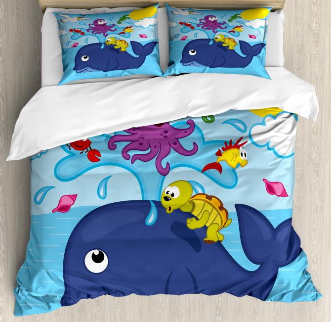 Marine Animals Duvet Cover Set