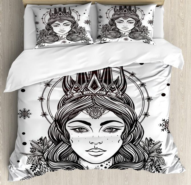 Fantasy Snow Queen Art Duvet Cover Set