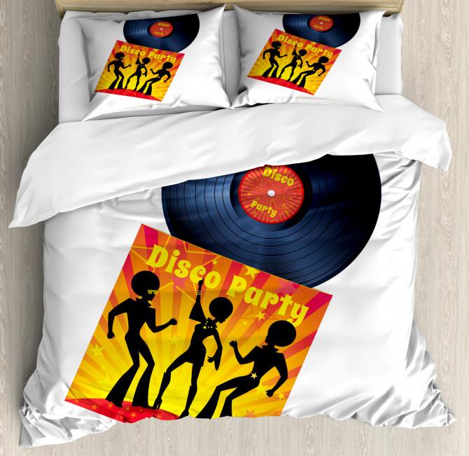 Record Cover Disco Party Duvet Cover Set