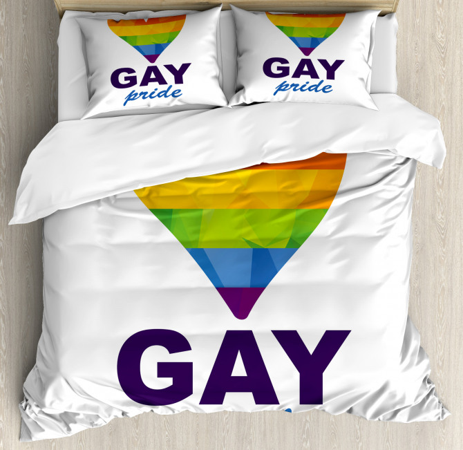 Gay Culture Heart Icon Duvet Cover Set