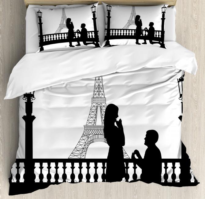 Paris City Lovers Duvet Cover Set