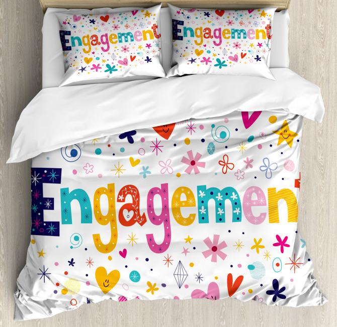 Engagement Party Duvet Cover Set