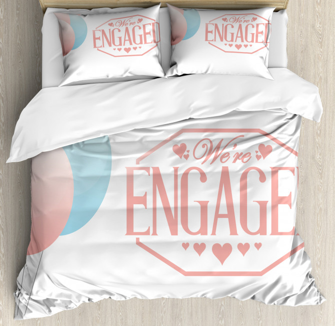 Engagement Text Duvet Cover Set