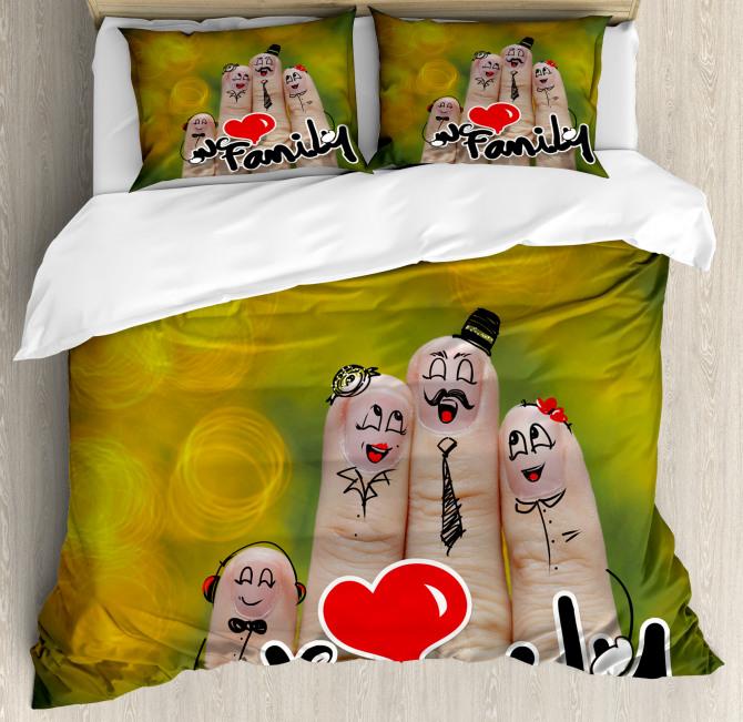 Happy Finger Family Love Duvet Cover Set
