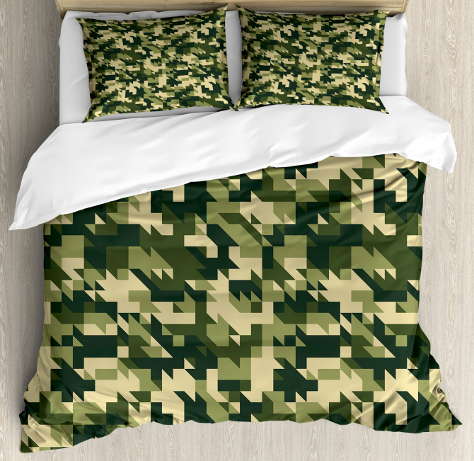 Abstract Chevron Forest Duvet Cover Set