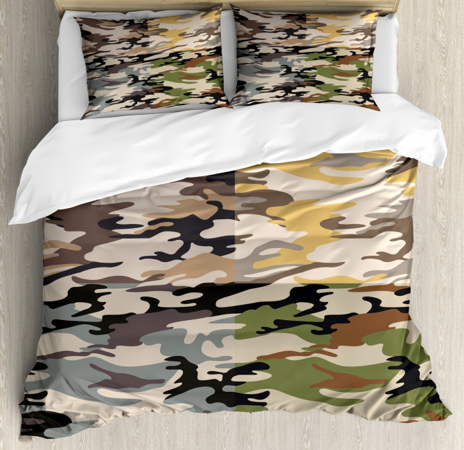 Different Colored Patterns Duvet Cover Set
