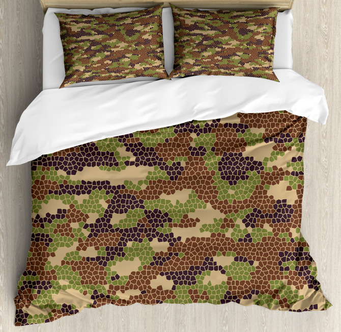 Summer Mosaic Pattern Duvet Cover Set