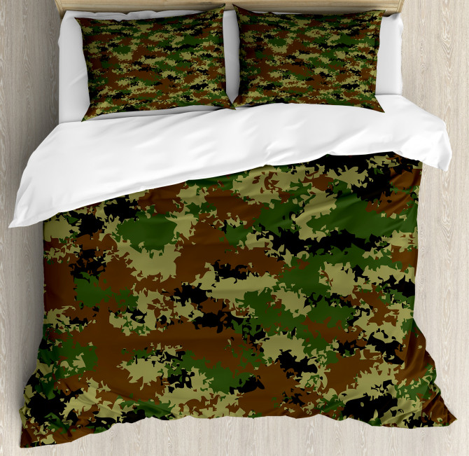 Grunge Graphic Camouflage Duvet Cover Set