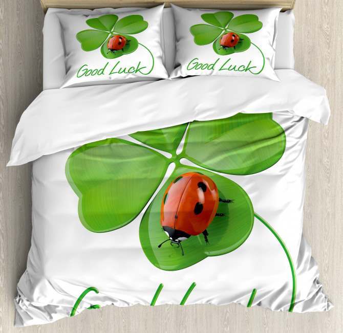 Clover Ladybug Duvet Cover Set