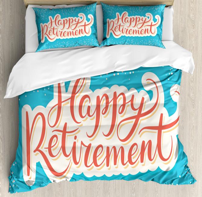 Happy Retirement Duvet Cover Set