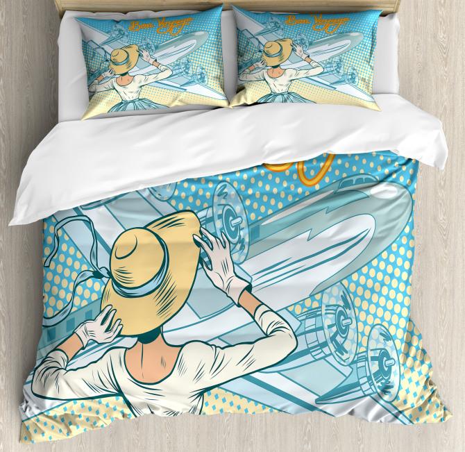 Aircraft Pop Art Duvet Cover Set