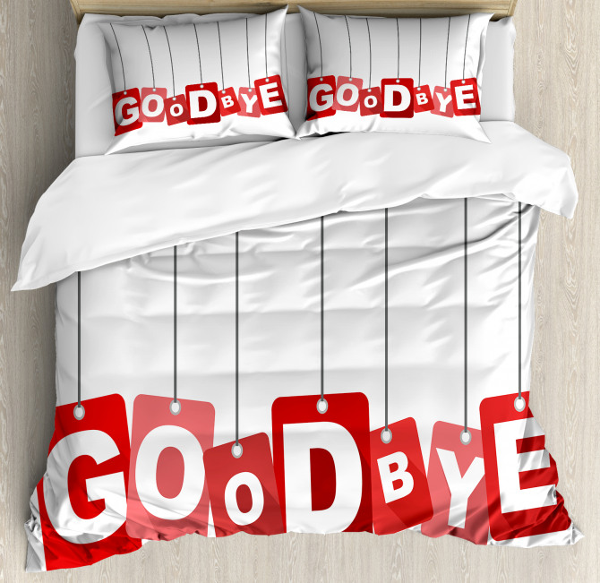 Goodbye on Blocks Duvet Cover Set