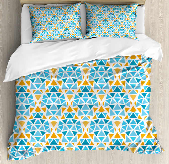 Triangle Motif Duvet Cover Set