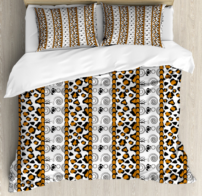 Wild Leopard Animal Print Duvet Cover Set