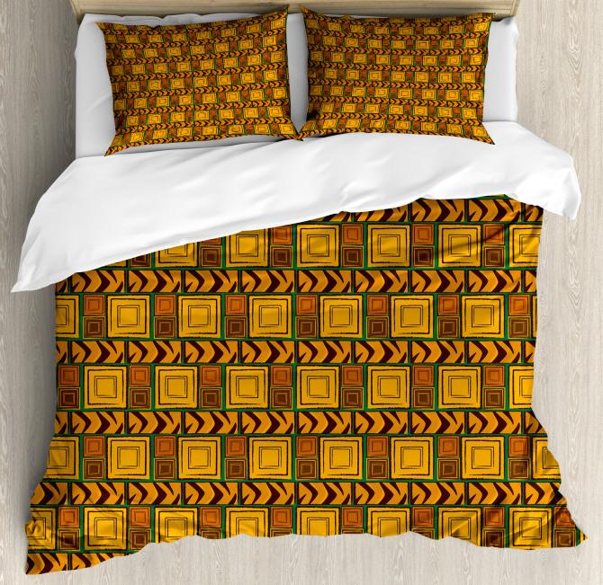Kenyan Ethnic Effects Duvet Cover Set