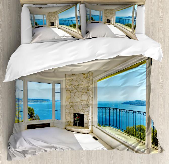 Ocean Nature Forest View Duvet Cover Set