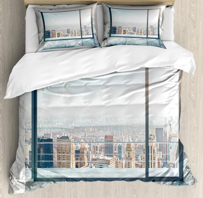 Empty Loft Cityscape Duvet Cover Set