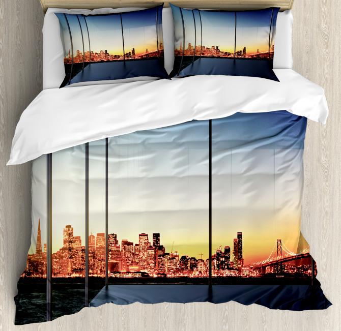 Usa New York Bridge Duvet Cover Set