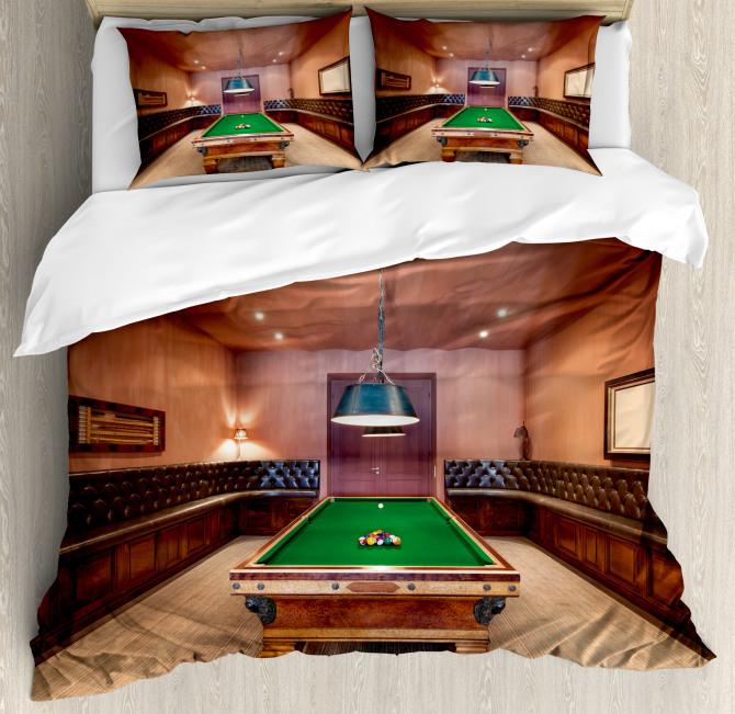 Pool Table Billiard Duvet Cover Set