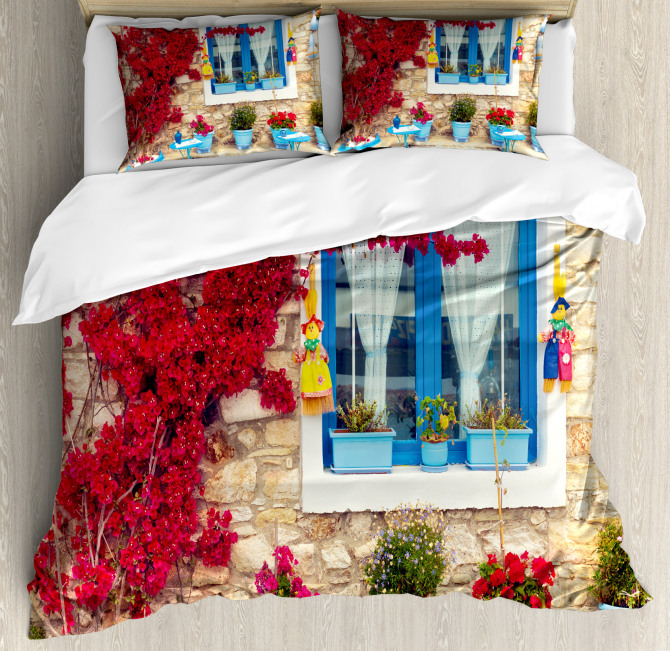 Mediterranean House Duvet Cover Set