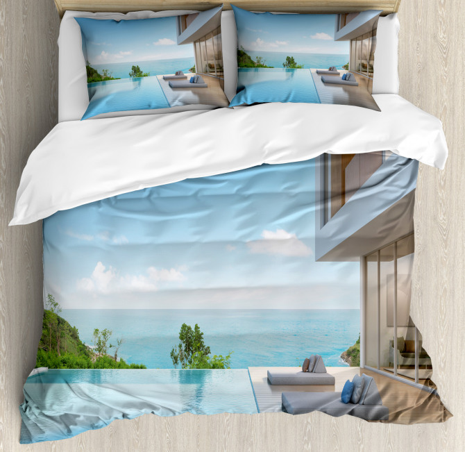 Minimalist Beach House Duvet Cover Set