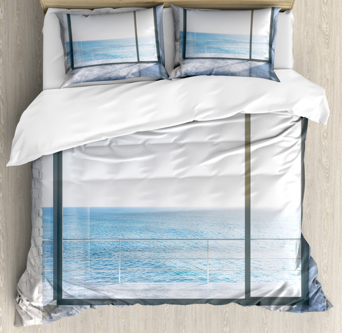 Ocean Scenery Apartment Duvet Cover Set
