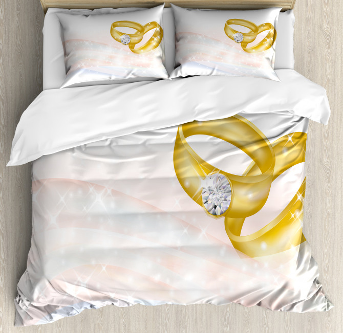 Two Rings Abstract Duvet Cover Set