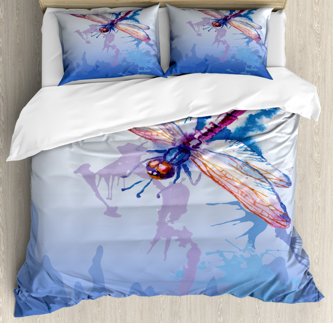 Abstract Dragonfly Duvet Cover Set