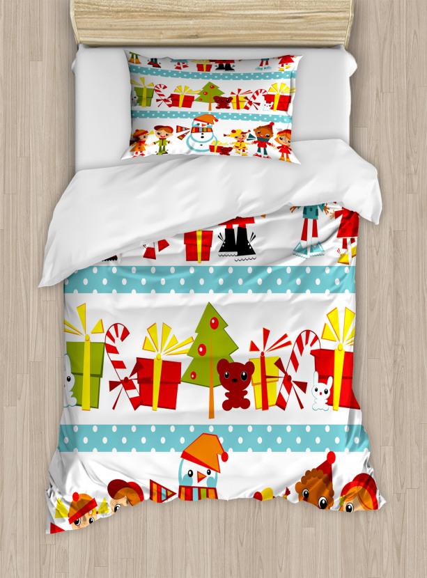 Joy Children Santa Duvet Cover Set