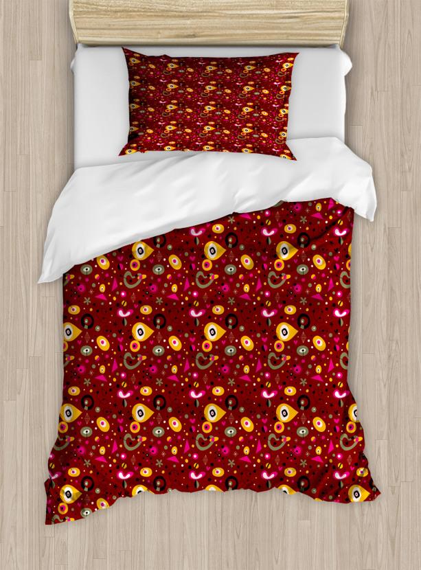 c240bf9086e Colorful Fifties Shapes Duvet Cover Set