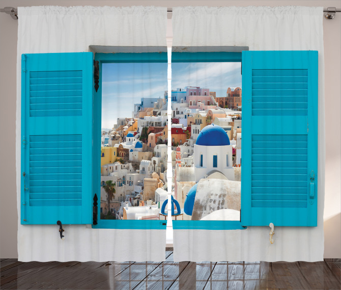 Antik Yunan Mimarisi Fon Perde Mavi