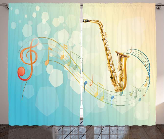 Rengarenk Müzik Temalı Fon Perde Notalar