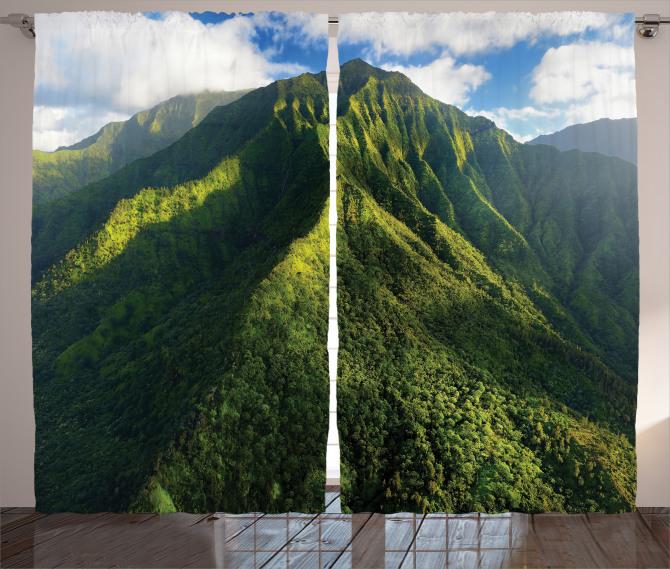 Yeşil Zirveler Fon Perde Dağ Manzaralı Doğada Huzur Temalı