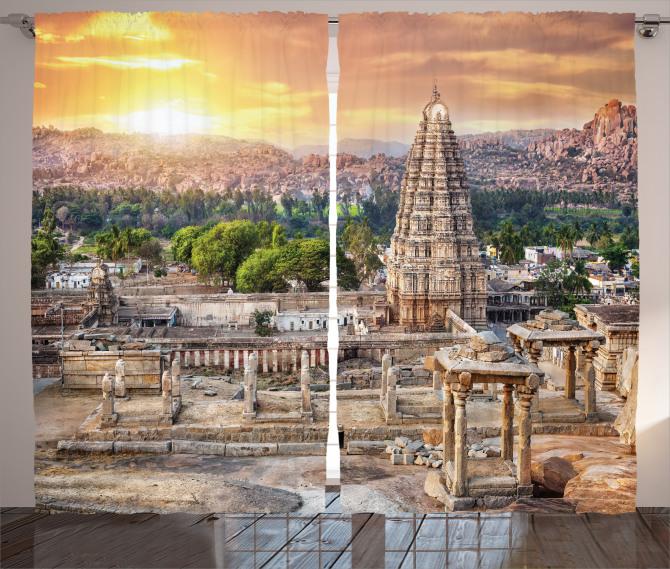 Tapınak ve Antik Kent Fon Perde Gün Doğumu