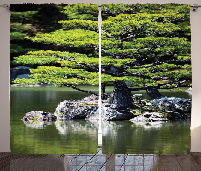 Yaz Mevsiminde Göl Manzarası Fon Perde Doğada Yaz Mevsimi Temalı