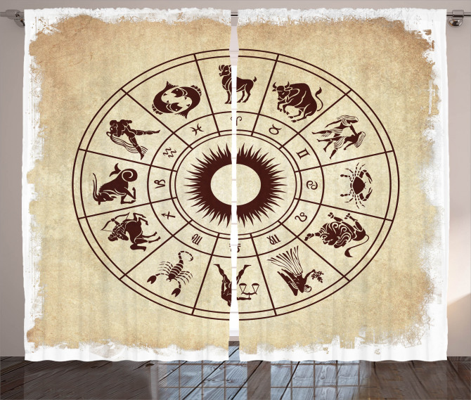 Zodiac Horoscope Sign Curtain