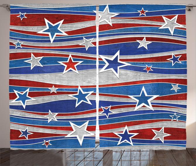 Abstract USA Flag Curtain