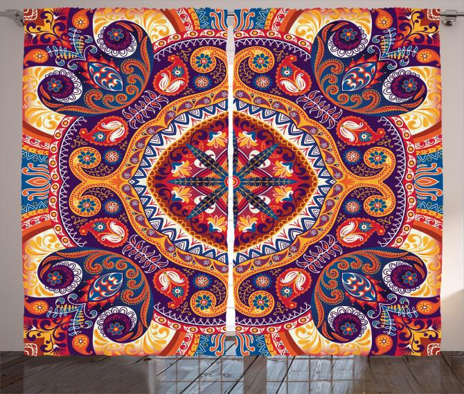 Arabic Flower Rug Curtain