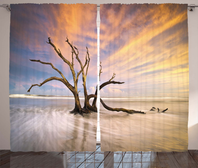 Dead Tree Sun Driftwood Curtain