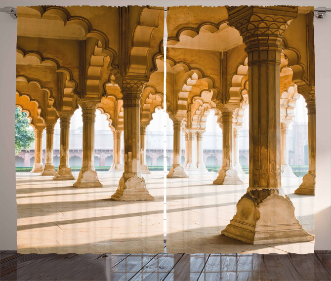 Agra Fort Pillar Curtain