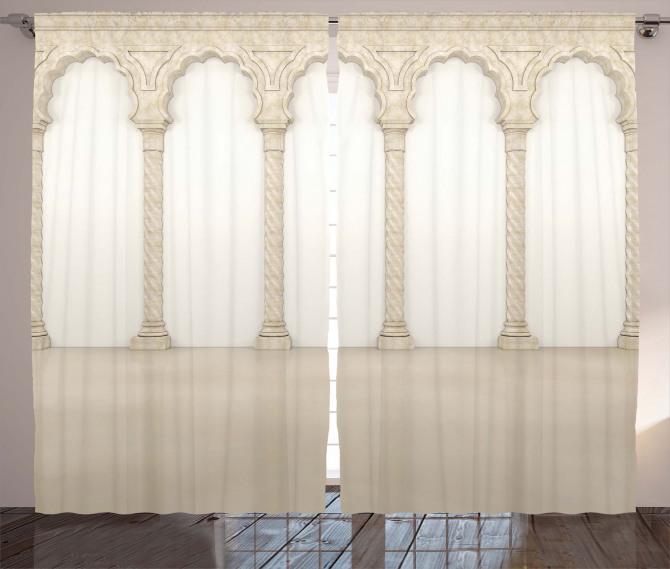 Column Arches Ancient Curtain