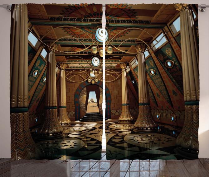 Interior Temple 3D Syle Curtain