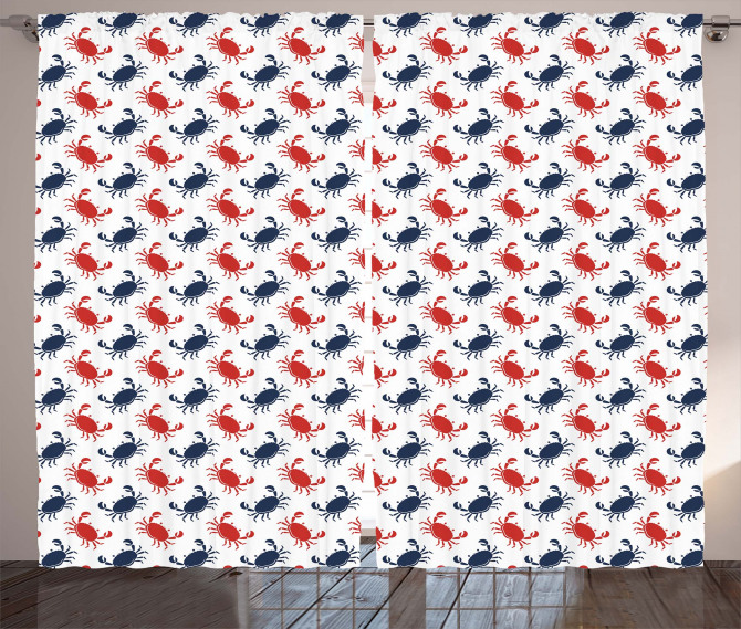 Sea Animals Theme Crabs Curtain