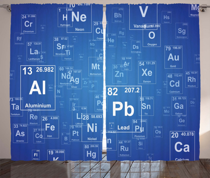 Tv Show Theme Chemistry Curtain