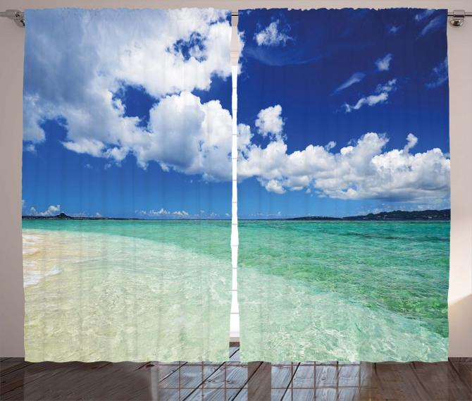 Island Sealife Wavy Sunny Curtain
