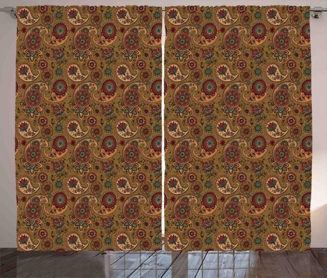 Vintage Authentic Motif Curtain